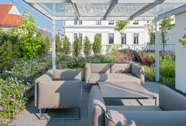 Sitzplatz, Dachgeschoß, Outdoor Sitzmöglichkeit